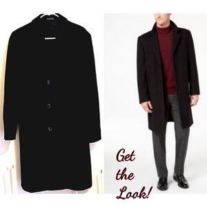 Men's Vintage Cashmere Men's Coat Teller Overcoat
